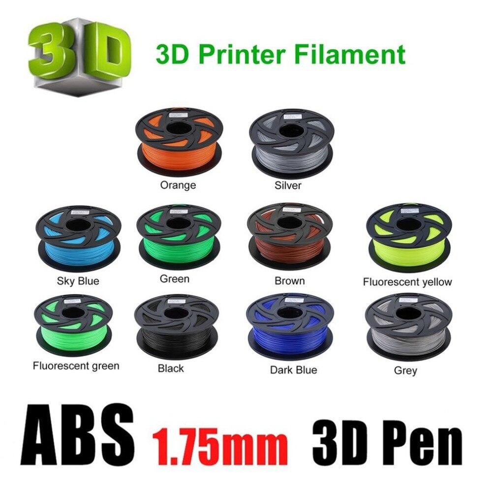 11 couleurs Prime ABS 1.75mm Filament 3D Imprimante Matériel D'impression Fournitures Rouleau 1 KG convient pour Plus 3D Imprimantes