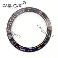 Wholesale High Quality Ceramic Black With Rose Gold Writing Watch Bezel For 116500 116520