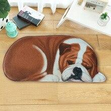 LYN&GY Cartoon 3D Dog Shape Animal Entrance Welcome Mats Doormats Hallway Carpet tapete Bathroom Rugs 40x87cm 50x109cm 20 Colors