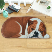 LYN&GY Cartoon 3D Dog Shape Animal Entrance Welcome Mats Doormats Hallway Carpet tapete Bathroom Rugs 40x87cm 50x109cm 20 Colors(China)