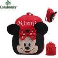 Minnie Mouse mochila para los niños escolares Hello Kitty Minion mochilas escolares para las niñas y los niños de la felpa mochilas escolares