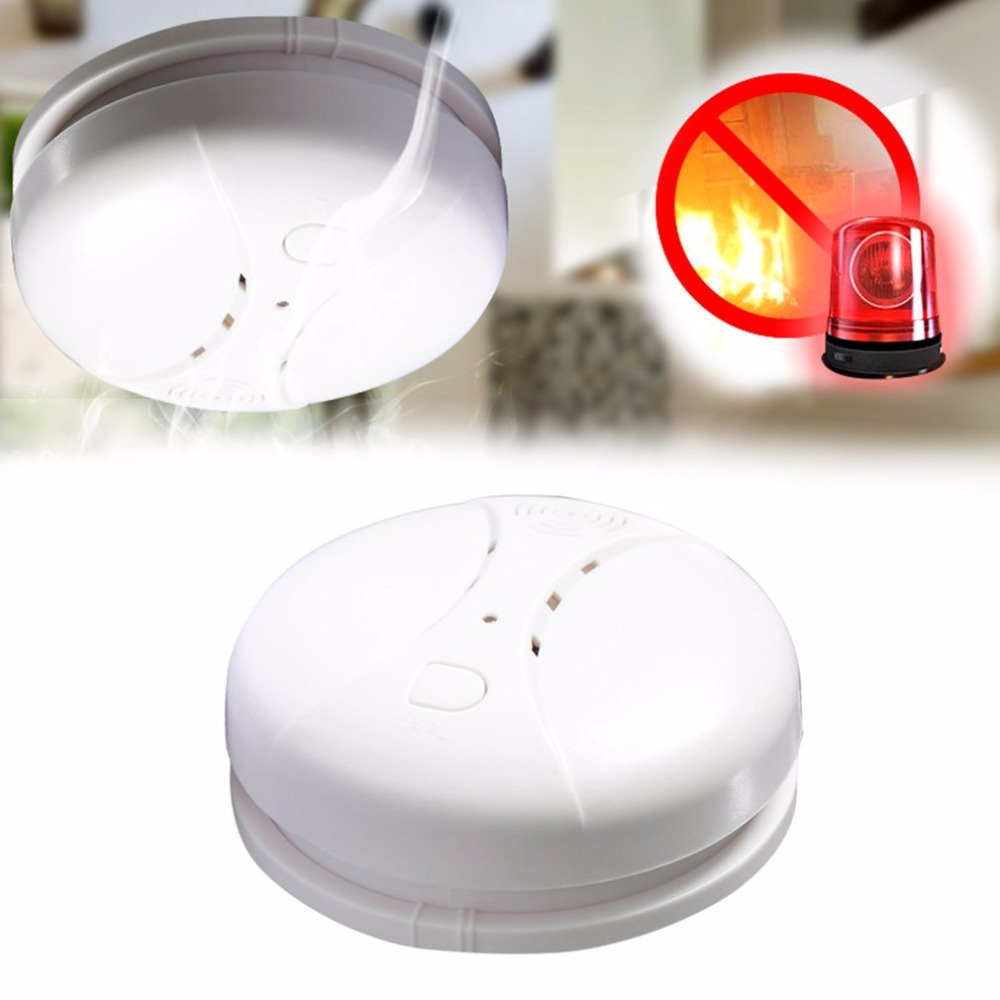 LESHP Photoelectric Smoke Alarm Detector Home Security Alarm System Fire Protection Battery Powered Dual-sensor Alarm Tester 813 battery powered photoelectric smoke alarm independent smoke detector single station type smoke detector