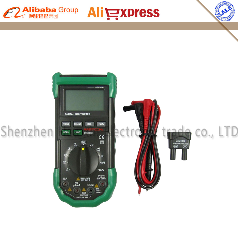 Mastech MS8268 Digital Multimeter Autorange AC/DC Voltmeter Ammeter Resistance Capacitance Frequency Tecrep Electrical Tester vc99 auto range 3 6 7 digital multimeter 20a resistance capacitance meter voltmeter ammeter alligator probe thermal couple tk