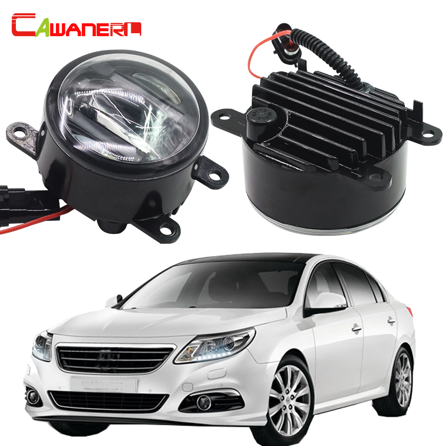 Cawanerl 2 X Car LED Front Fog Light DRL Daytime Running Lamp 12V Accessories For Renault Logan Latitude Master II akd car styling for renault logan led fog light fog lamp logan led drl 90mm high power super bright lighting accessories