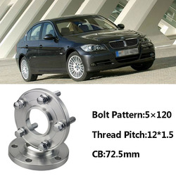 Wysokiej jakości 2 sztuk nowy 5x120 72.5CB Centric przekładka koła piasty M12 * 1.5 śruby do BMW E85 E82 e87 E89 E81 E36 E30 E65 E60 E64 E66