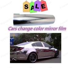 20*152cm Color Change Film Vinyl Wrapping Plating mirror Multicolor Chrome Film with a guide gas tank for Car Motocycle Laptop