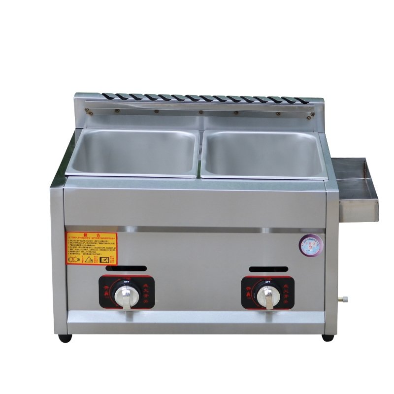 Double Cylinder Gas Fryer Energy Saving Frying Pan Stainless Steel  Frying Pan Chicken Frying Pan JX-11 fast food leisure fast food equipment stainless steel gas fryer 3l spanish churro maker machine