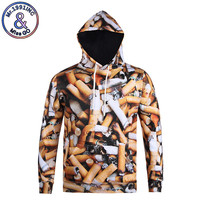 Mr.1991INC Newest Hoodies 3D Realistic Print Spoof Smok Awareness Environmental Protection Creative Pullover Long Sleeve Tops