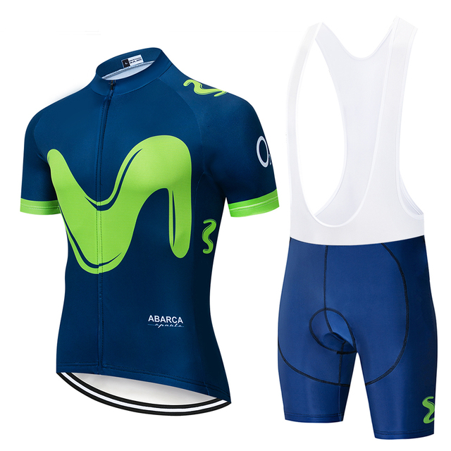 2019 New Pro Team Uniform Movistar Cycling Sets Maillot Ropa Ciclismo Jersey Men Summer Bike Jersey Set Bike Bicycle Wear MTB