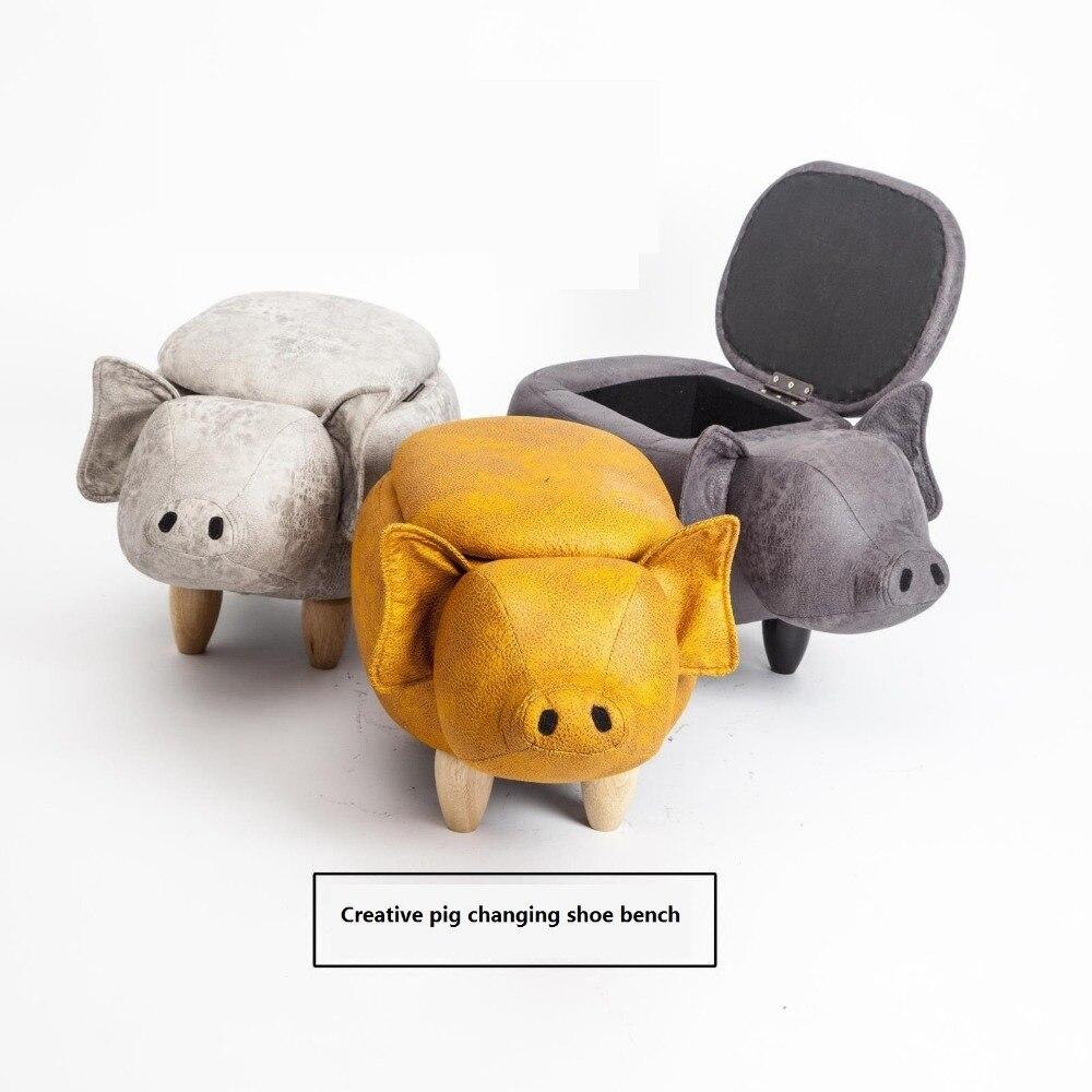 Créatif cochon changeant banc de chaussures Designer mignon amusant stockage tabouret dessin animé tabouret canapé tabouret