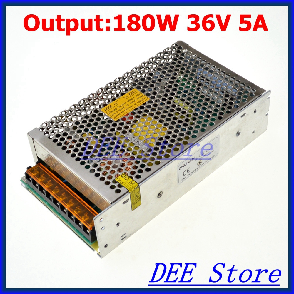 Led driver 180W 36V 5A Single Output Adjustable Switching power supply unit for LED Strip light AC-DC Converter led driver 1200w 24v 0v 26 4v 50a single output switching power supply unit for led strip light universal ac dc converter