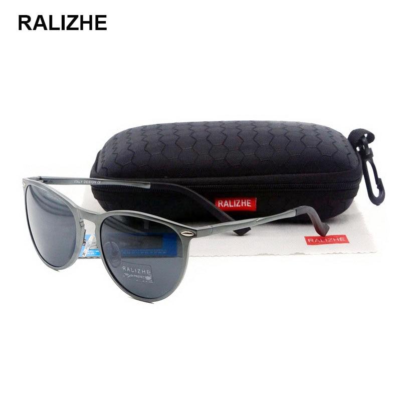 RALIZHE New Fashion Polarized Sunglasses Designer Aluminum Magnesium Sun Glasses Mens Womens Eyewear UV400 Driving Fishing