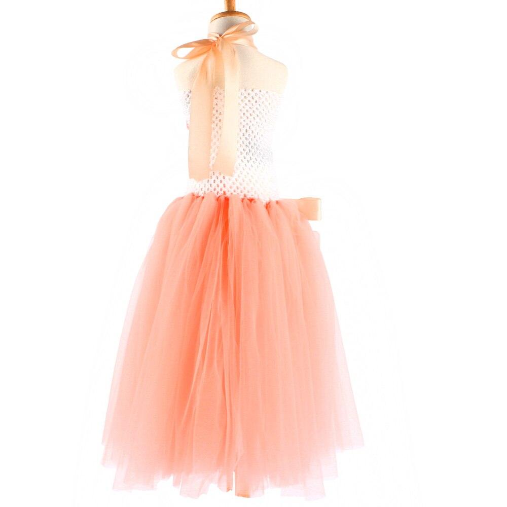 Персик квітка дівчина Туту плаття - Дитячий одяг - фото 4