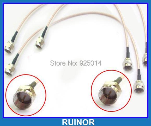 10PCS 20cm F Male to F male plug Crimp RG316 Pigtail Cables Conversion 20cm usb male to male cables pair 24 5cm length
