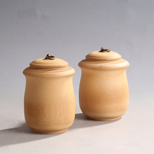 Bamboo wooden tea canister straight buckle boxes of storage container Bamboo Tea caddy box Coffee cans all natural hand made