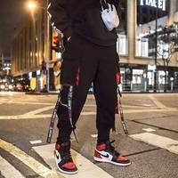 Men Multi pocket Elastic Waist Design Harem Pant Men Streetwear Punk Hip Hop Casual Trousers Joggers Male Dancing Pant Males