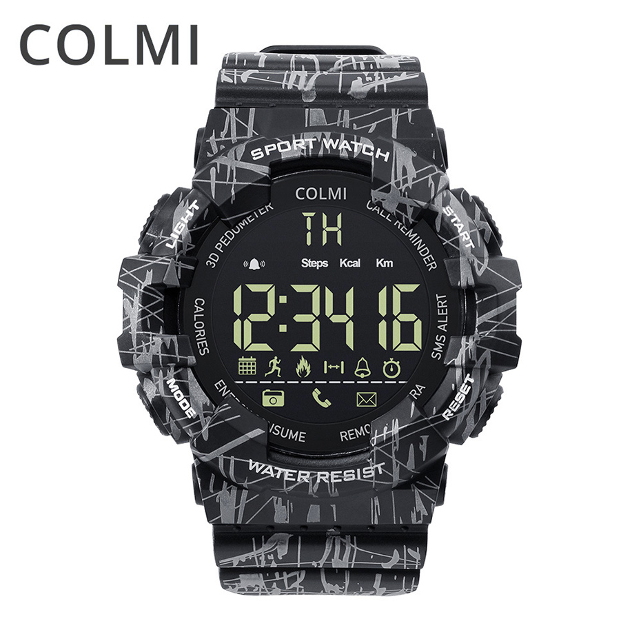 COLMI EX16C Camo Smart Watch Men IP68 Waterproof Step Activity Tracker Clock Standby 365 Days Smartwatch