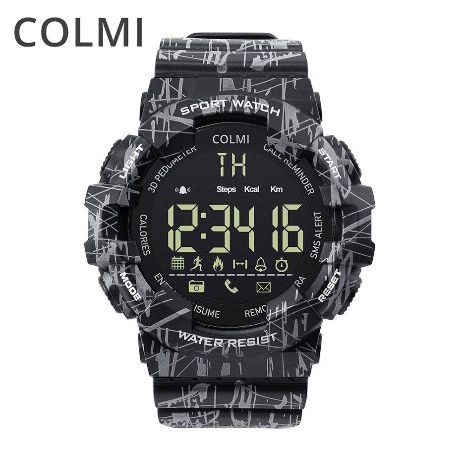 COLMI EX16C Camo Smart Watch hombres IP68 impermeable paso actividad Tracker reloj espera 365 días Smartwatch