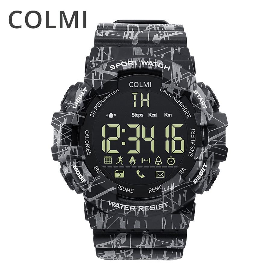 COLMI EX16C Camo Astuto Della Vigilanza Degli Uomini di IP68 Impermeabile Passo Activity Tracker Orologio Standby 365 Giorni Smartwatch