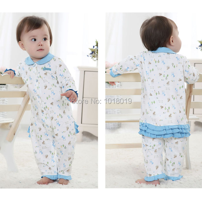 3M~12M Branded High Quality Cotton Ropa Bebe Newborn Baby Girl Clothing Clothes Creeper Jumpsuits Baby Girls Rompers Long Sleeve