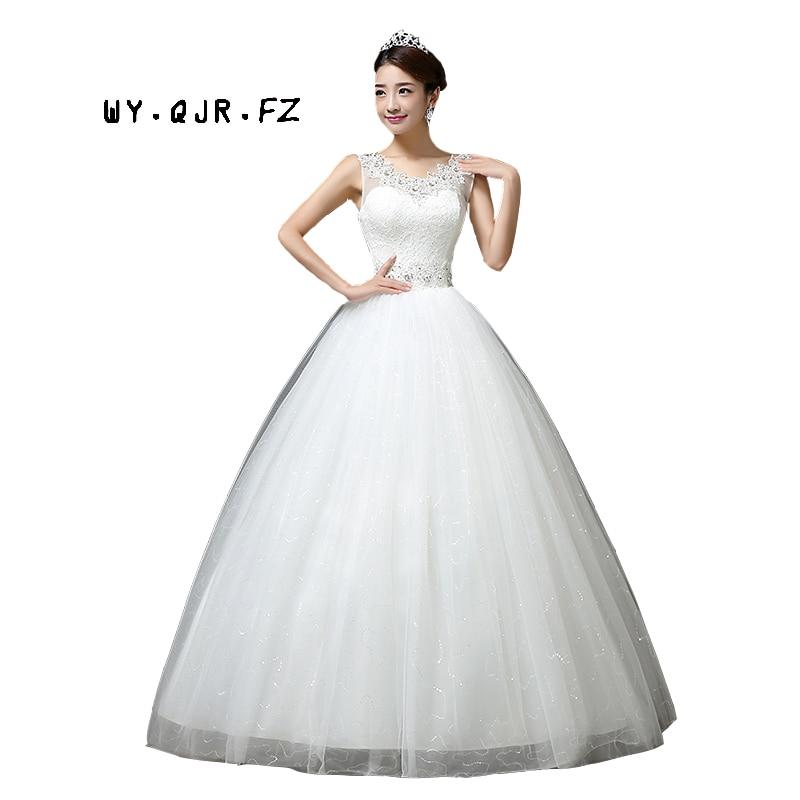 LYG-H65 # Vestido de fiesta 2019 nuevos vestidos de hombro de fábrica con cordones hombro de flores personalizar más el tamaño de la novia al por mayor vestido de novia