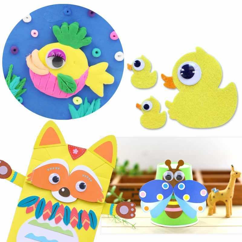 Глаза для игрушек 300 шт 6-35 мм смешанные куклы Googly назад клейкие черные глаза используются для мягких кукол аксессуары глазные яблоки для игрушек подарки