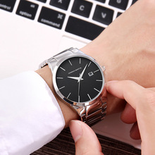 цены на Male Clock Silver Watches Men Fashion Men Quartz Wristwatches montre homme Top Brand Military Wrist Watches Relogio Masculino в интернет-магазинах