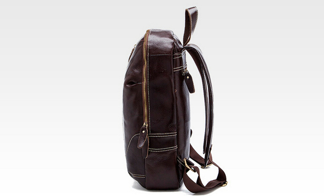 Fashionable backpack Men and women with large capacity backpack leather bag free shipping