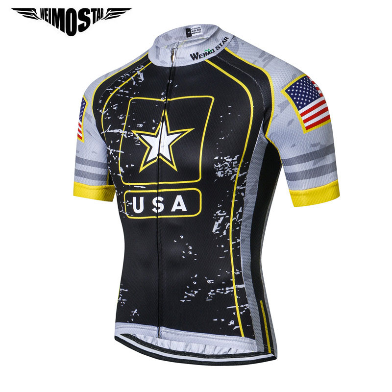 Weimostar USA Army Team Cycling Jersey Men Racing Cycling Clothing Summer mtb Bike Jersey Downhill Bicycle Wear Clothes Ciclismo