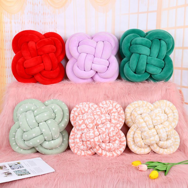 Soft Knot Ball Cushions Bed Stuffed Pillow Home Decor Cushion Ball Plush Throw