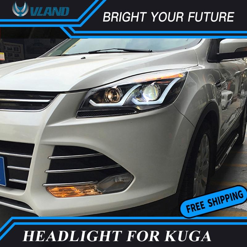 Car LED Strip Head Lamp LED Turn Light for Ford KUGA Headlight 2013 2014 2015