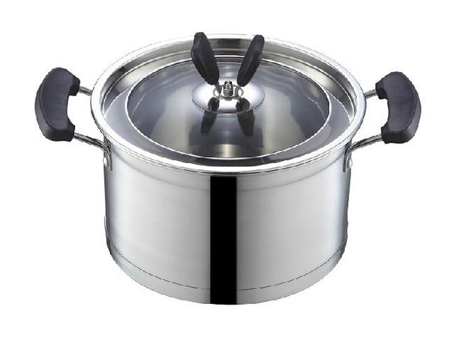 Casserole 3500 Ml 20 Cm Acier Inoxydable Marmite Ragout Pot