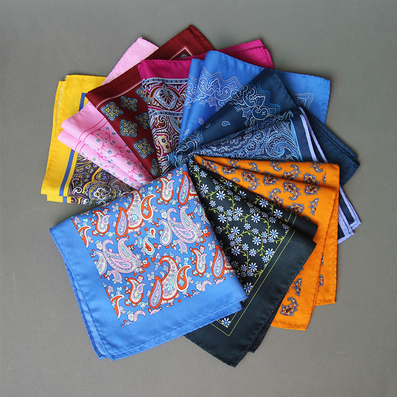 Vintage Ladies Paisley Floral Handkerchiefs Pocket Square Wedding Suits Handkerchief For Mens Pocket Towel Hanky