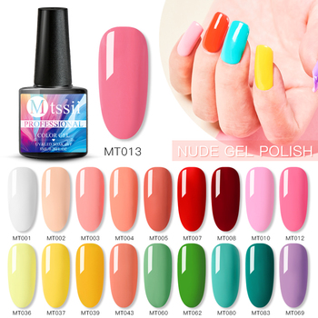 Mtssii 255 Colors Pure Color Gel Polish Soak off Base Gel Top Coat Nail Gel Lacquer 8 ml Manicure Long Lasting Nail Color Gel image
