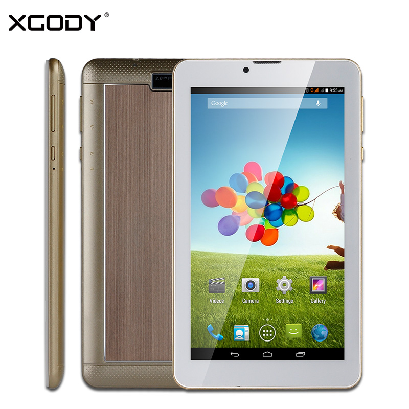 XGODY M706 7 inch 3G Tablet PC Phone Call Android MTK Dual Core 512MB RAM 4GB ROM WiFi OTG GPS 2.0MP Dual SIM GSM/WCDMA Tablets oysters t72ms 3g 7 a23 512mb 4gb 3g wifi bt android 4 4 black