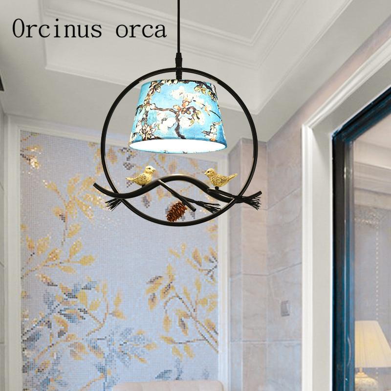 Nordic modern minimalist bird chandelier aisle restaurant study room cloakroom Mediterranean single head bird Chandelier цена