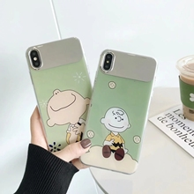 IMIDO Charlie Boy Anti-fall Mirror silicone PC Cases For Huawei p20 pro p30 mate20 Cartoon Fashion Case