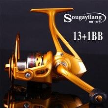 New Promotion No Profit 13+1BB Spinning Fishing Reel Metal Spool Saltwater Freshwater Spinning Wheel For Carp Fly Boat Fishing