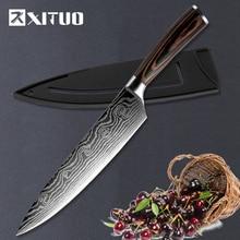 XITUO 8 »дюймовый шеф-повар Ножи японский Нержавеющаясталь шлифования Лазерная ножи профессиональный острое лезвие Ножи Пособия по кулинарии инструмент подарок