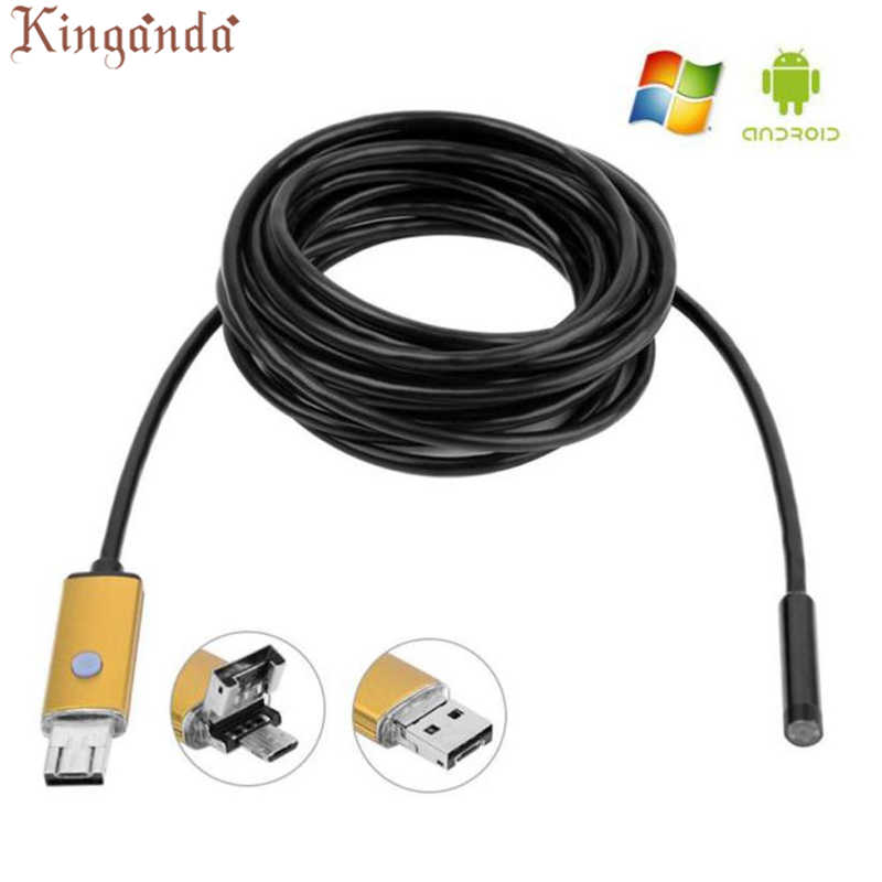 Веб-камера 2 в 1 Android USB эндоскопа инспекционной 8 мм Камера 6 светодиодный HD IP67 Водонепроницаемый Камара веб-доставка 17aug11