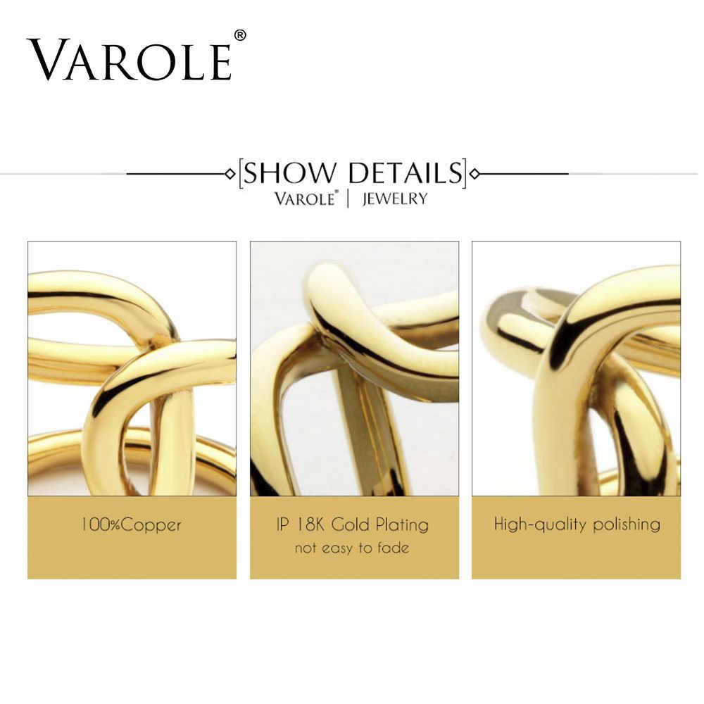 VAROLE 二重線クロス指輪女性リングパーソナライズされたギフトユニークなデザインのファッションジュエリーと操作 Feminino