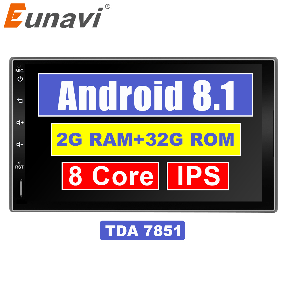 Eunavi 7 2 Din Android 8.1 Car Tap PC Tablet in dash 2din Universal 1024*600 GPS Navigation Radio Stereo Audio Player (No DVD)Eunavi 7 2 Din Android 8.1 Car Tap PC Tablet in dash 2din Universal 1024*600 GPS Navigation Radio Stereo Audio Player (No DVD)