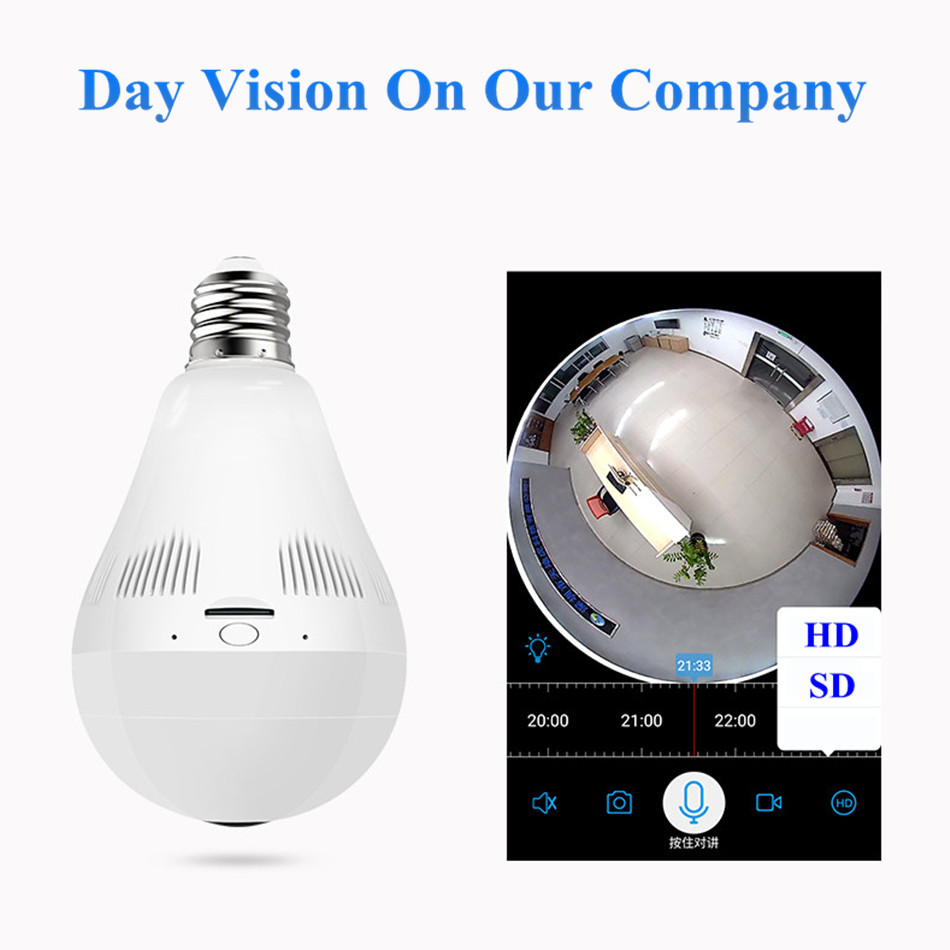 PENGBO 2MP 1080 Full HD Fishbone 360 Degree Panoramic Lamp Bulb light WIFI IP Camera Two Way Sound Home Security CCTV VR Cam нивелир ada cube 2 360 home edition a00448