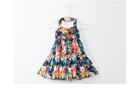 Green Girls Dresses Bold-Shoulder Chiffon Fashion Dress For Girl Children Clothes Summer Autumn Holiday Party 5-12
