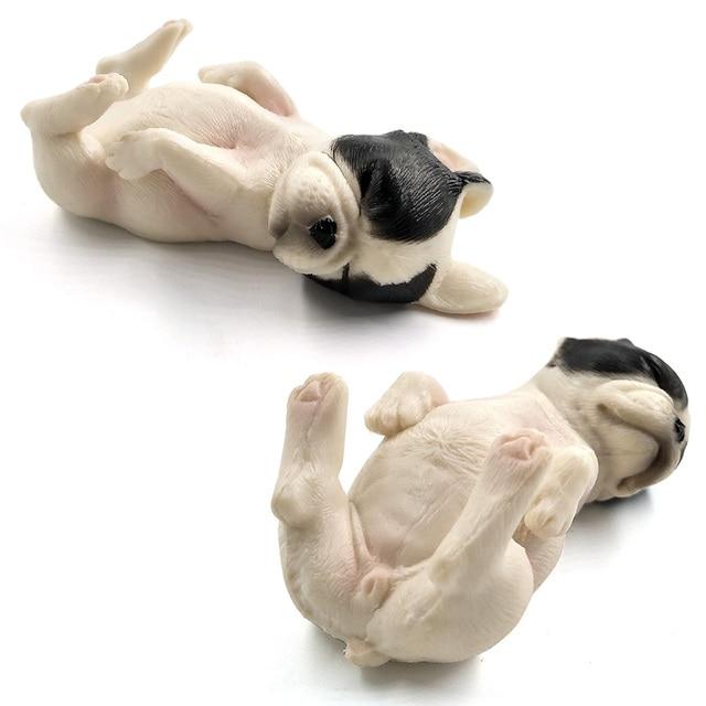 Simulation Small Dog Puppy Animal Model figurine home decor miniature fairy garden decoration accessories modern statue Figure 6