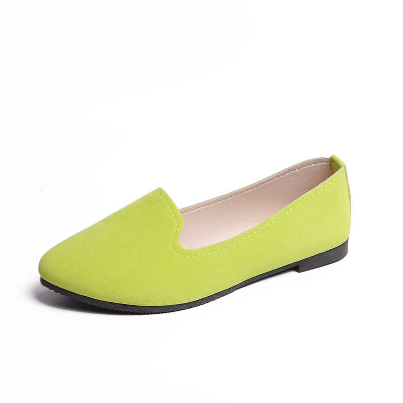 NAN JIU MONTANHA 2019 Primavera e Outono Sapatos Único Sapatos Baixos Confortável Cor Brilhante Sapatos de Trabalho Casuais Plus Size 35 -43 mulheres