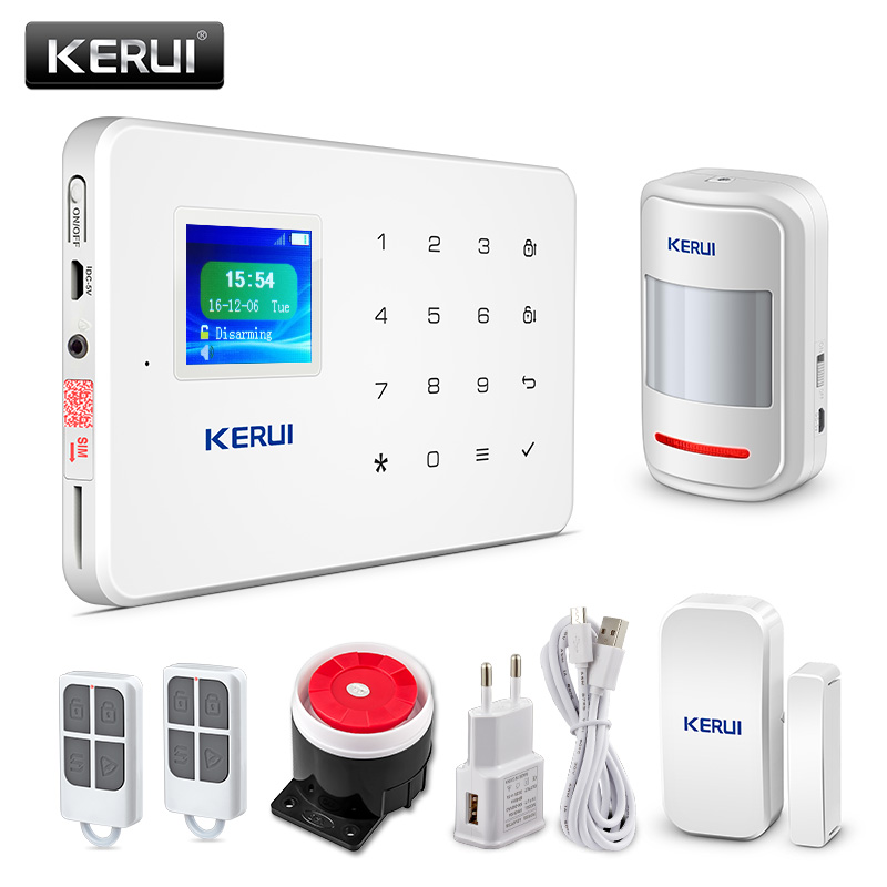 KERUI G18 Wireless Home GSM Security Alarm System DIY Kit APP Control With Auto Dial Motion Detector Sensor Burglar Alarm System free shipping compatible tv lamp for hitachi 50vs810