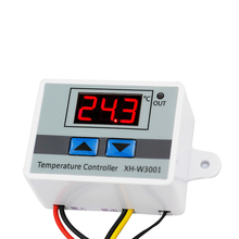 W3001 Digital Thermometer DC 24V AC 110V 220V Outdoor Temperature Controller Regulator DS18B20 XH-W3001
