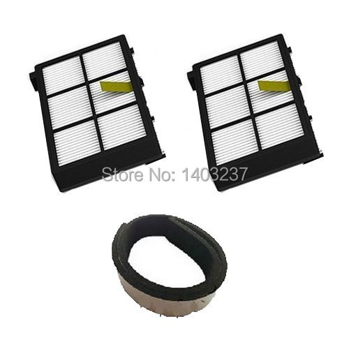 2 pack HEPA Filter filters + 1 Plastic Bumper Guard Black Pad For iRobot Roomba 800 series 870 880 900 series 980 Vacuum Robotic 3 pack bonded filter pad color white size 312 sq inch catalog category aquatics filter media