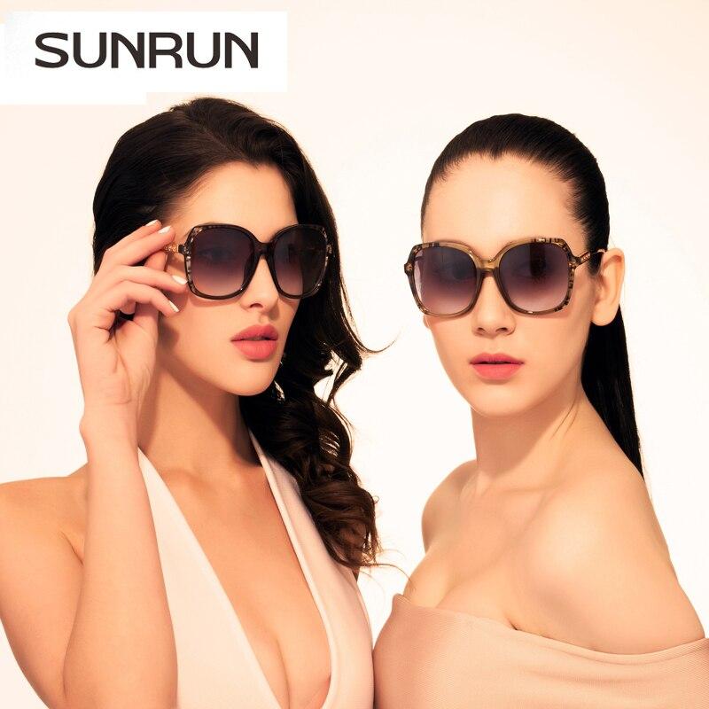 SUNRUN  Fashion Sunglasses Women Square Sun glasses Brand Designer womens Glasses OCULOS de sol UV400 Gafas de sol mujer 9706 цена